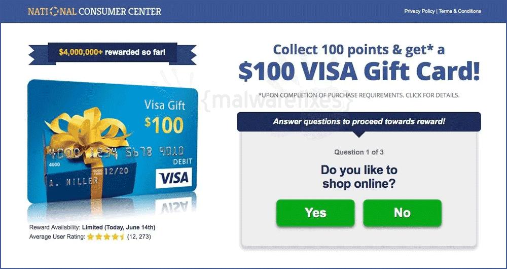 Screenshot of National Consumer Center