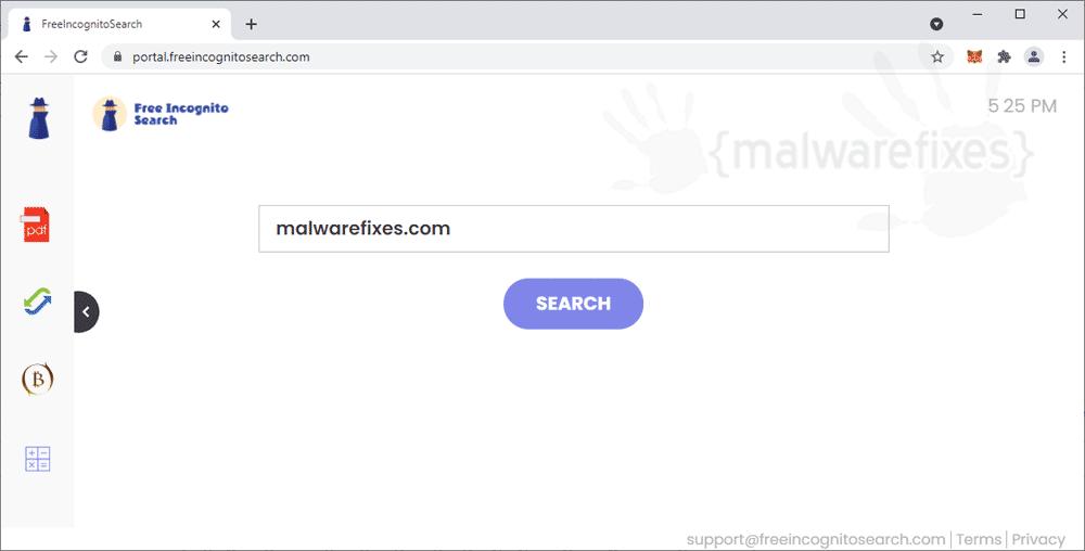 Screenshot of FreeIncognitoSearch.com
