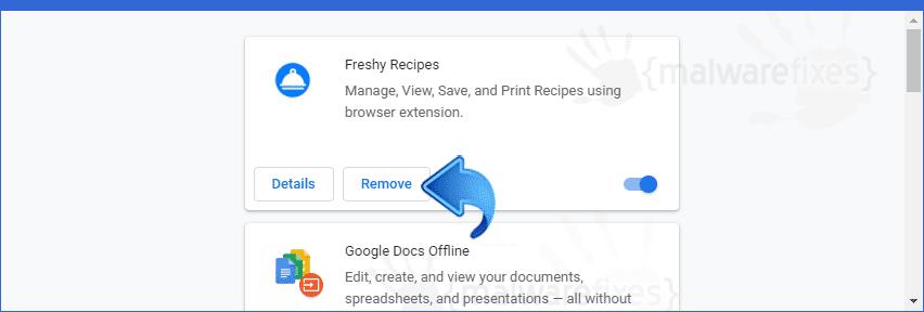 Screenshot of Freshy Recipes extension