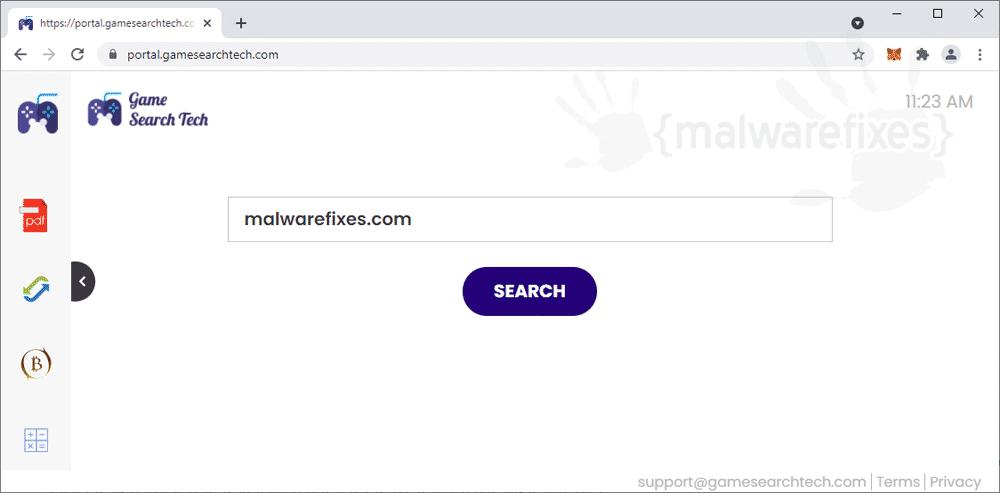 Screenshot of GameSearchTech.com