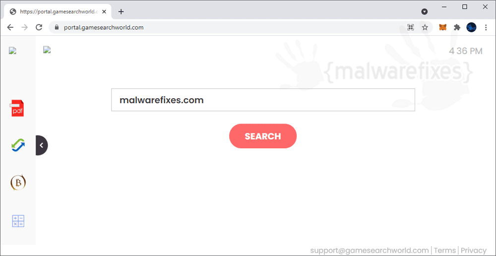 Screenshot of GameSearchWorld