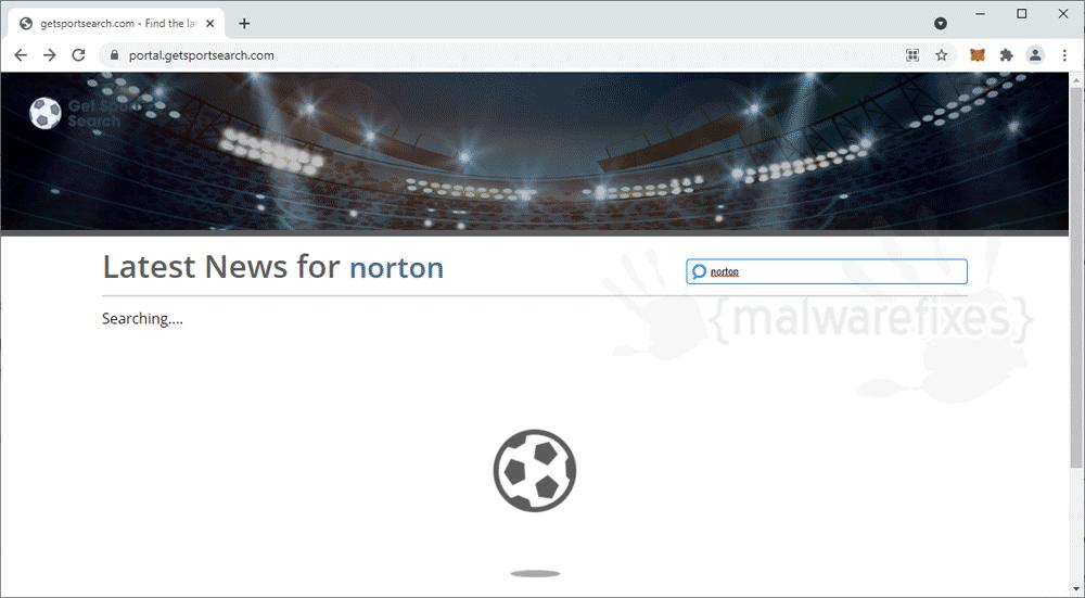 Screenshot of GetSportSearch