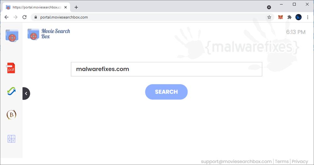 Screenshot of MovieSearchBox