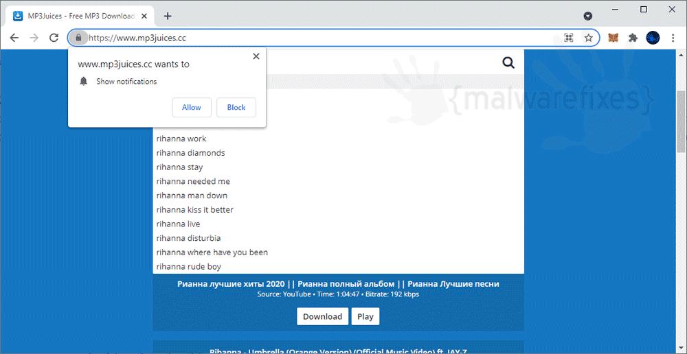 Screenshot of Mp3juices.cc