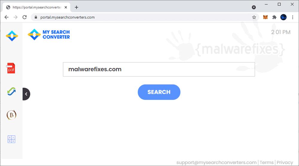 Screenshot of MySearchConverters