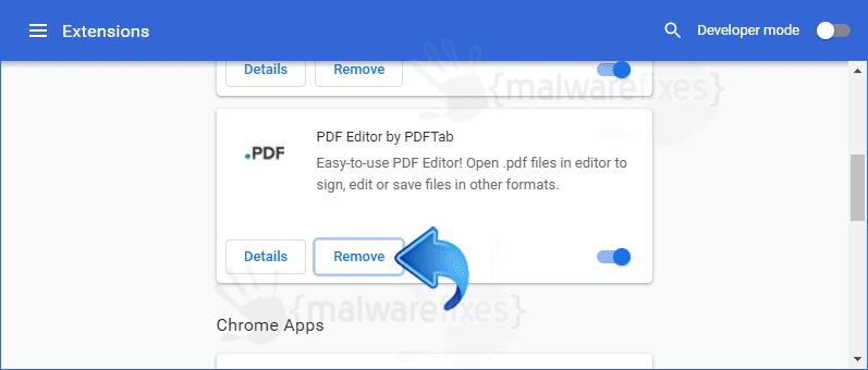 Screenshot of PDFtab Extension