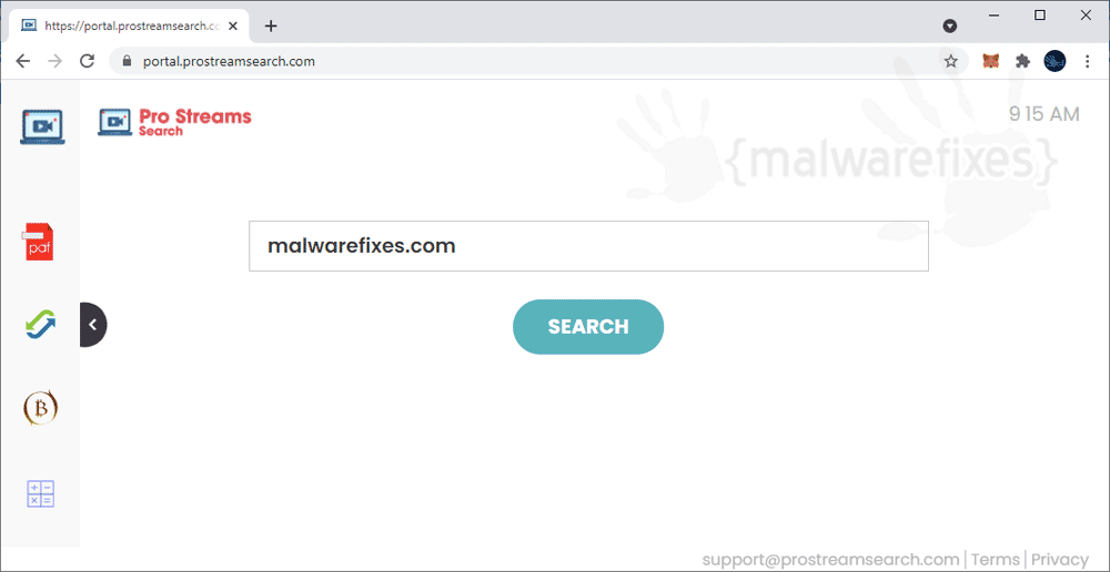 Screenshot of ProStreamSearch