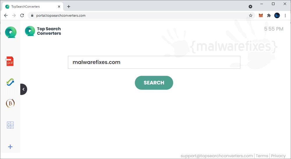 Screenshot of TopSearchConverters