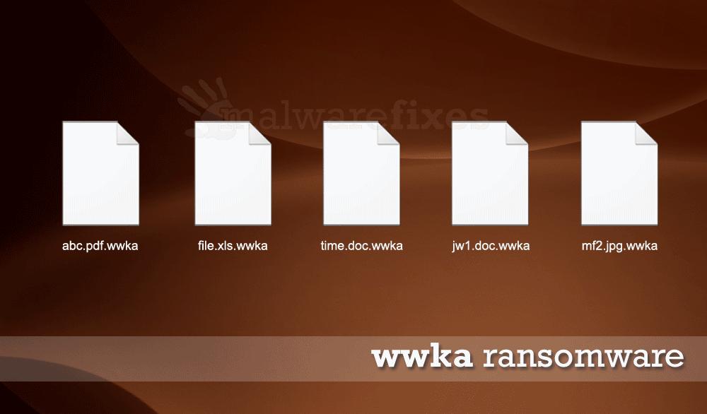 Screenshot of Wwka encrypted files