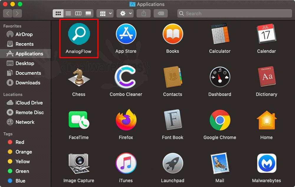 Screenshot of AnalogFlow App