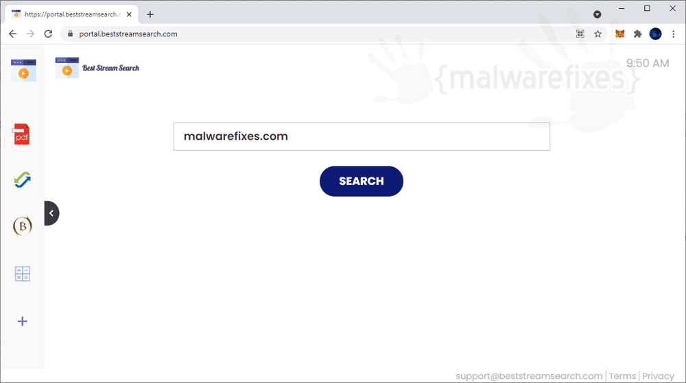 Screenshot of BestStreamSearch website