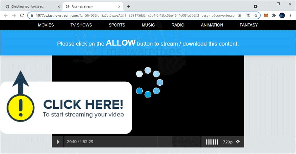 Screenshot of Fastnewstream.com