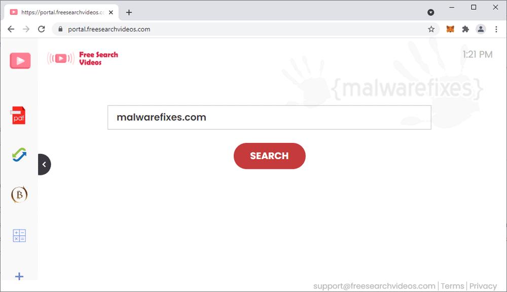 Screenshot of FreeSearchVideos