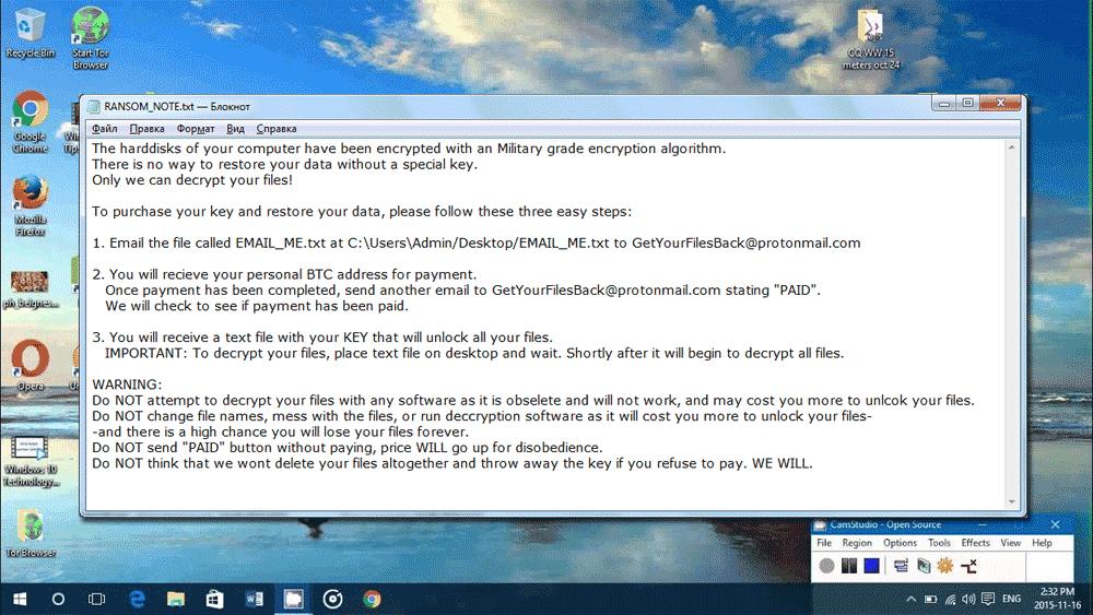 Screenshot of GetYourFilesBack ransom note