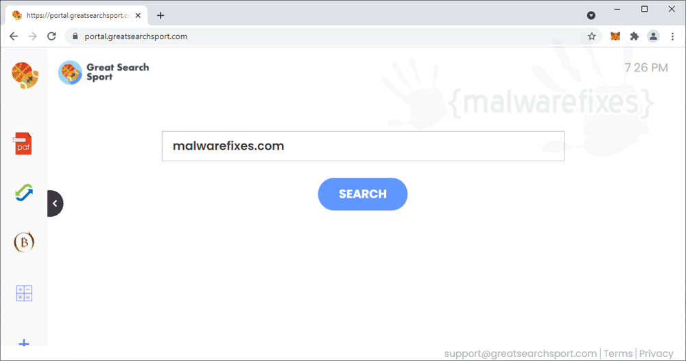 Screenshot of GreatSearchSport