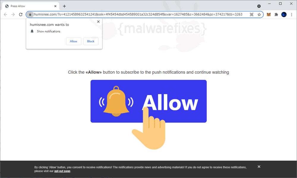 Screenshot of Humisnee.com Ads