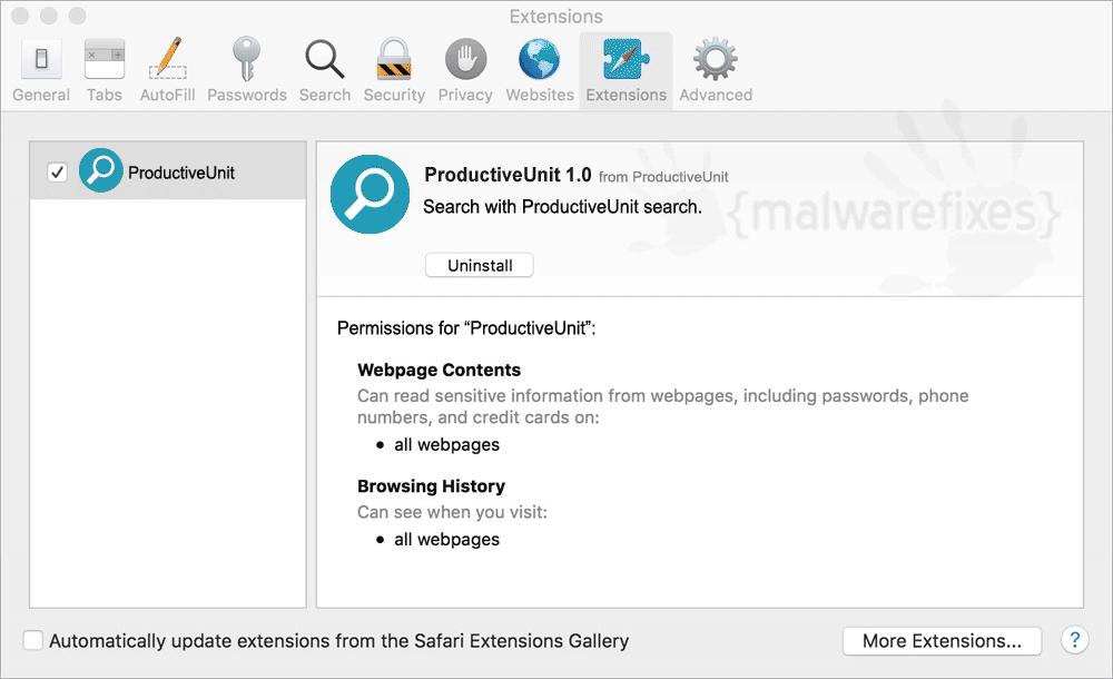 Screenshot of ProductiveUnit App