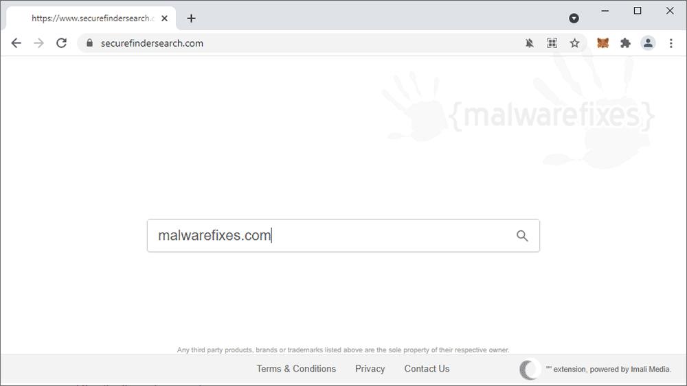 Screenshot of Securefindersearch.com website