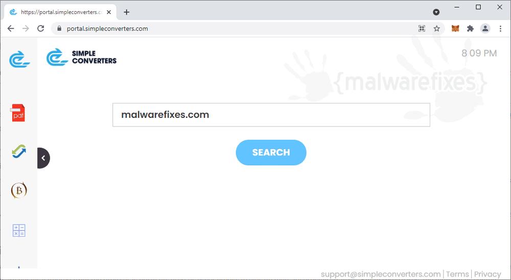 Screenshot of Simpleconverters