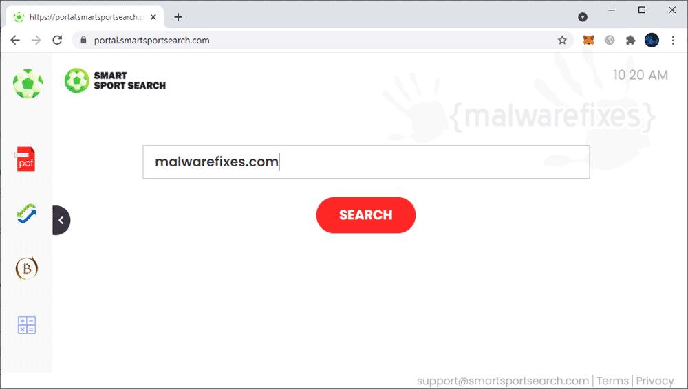 Screenshot of SmartSportSearch