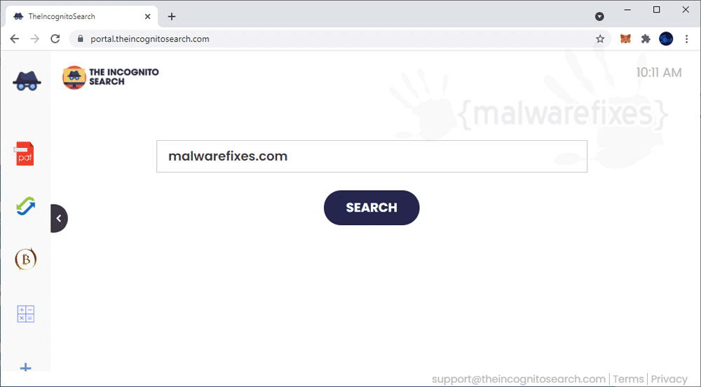 Screenshot of TheIncognitoSearch