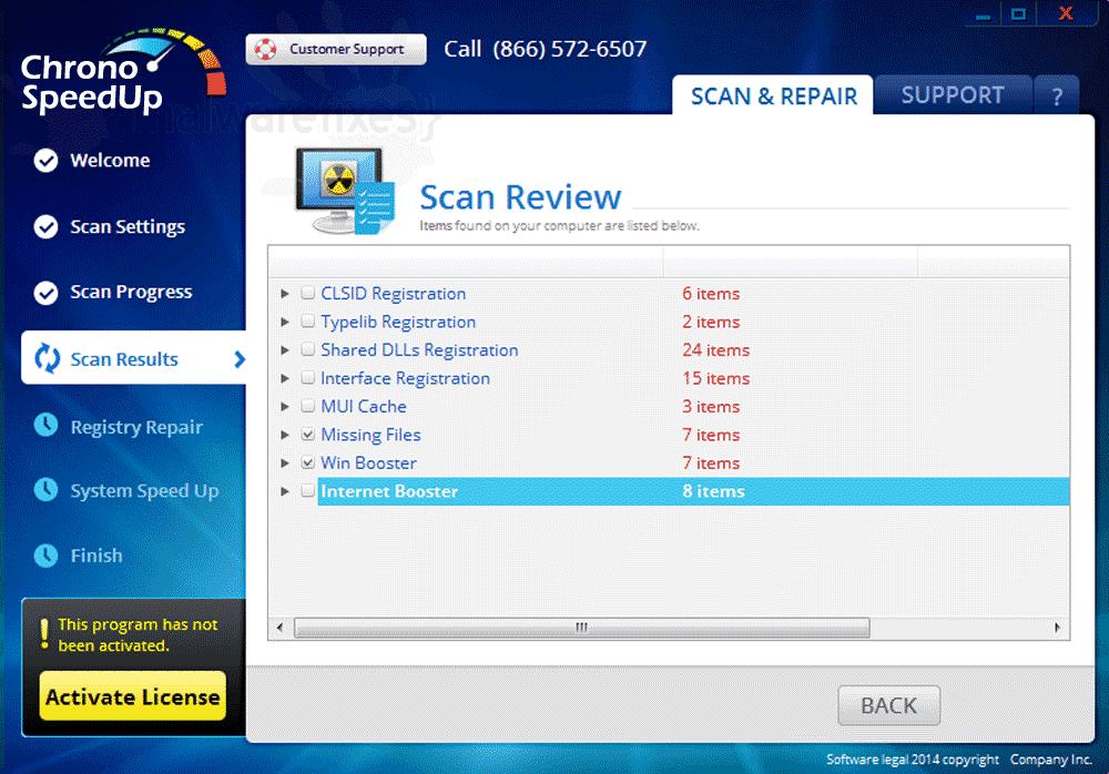 Screenshot of Chrono SpeedUp