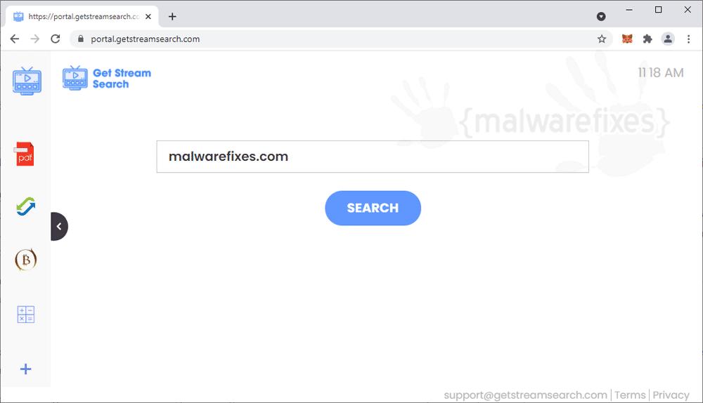 Screenshot of GetStreamSearch