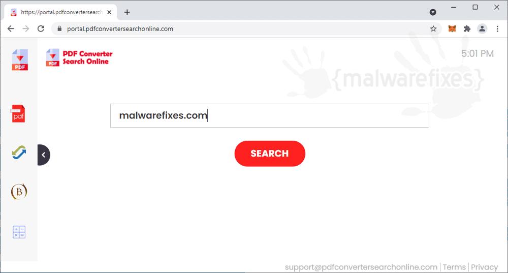 Screenshot of PDF Converter Search Online