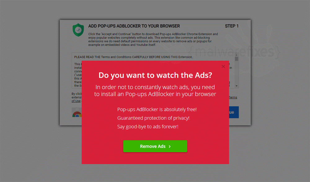 Screenshot of Pop-ups AdBlocker