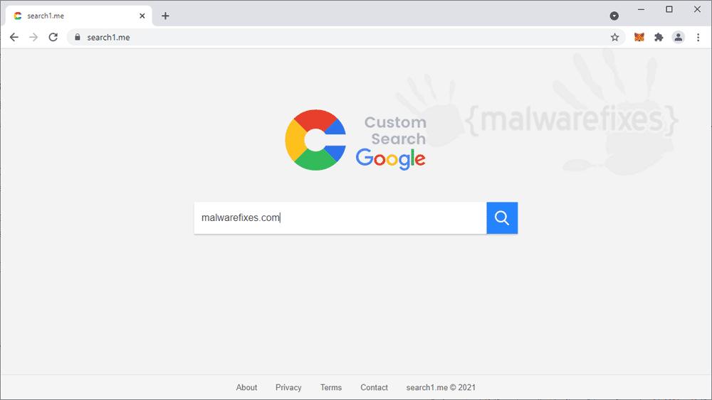Screenshot of Search1.me Homepage