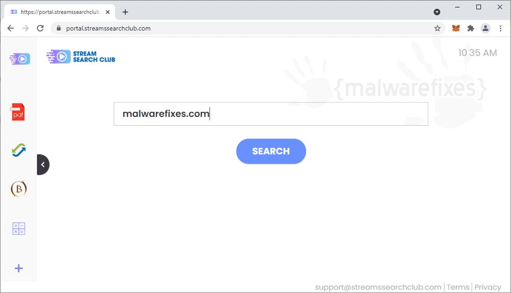 Screenshot of StreamsSearchClub