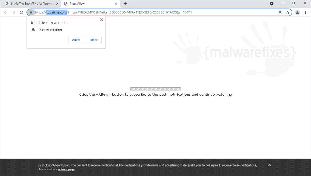 Screenshot of Tobaitsie.com website