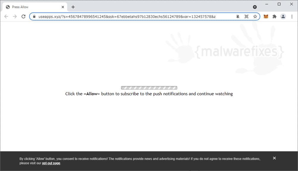Screenshot of Useapps.xyz website