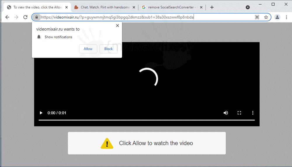 Screenshot of Videomixair.ru website