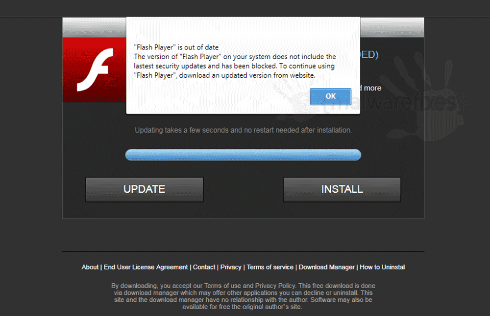 Screenshot of BeyondLaunch Adware