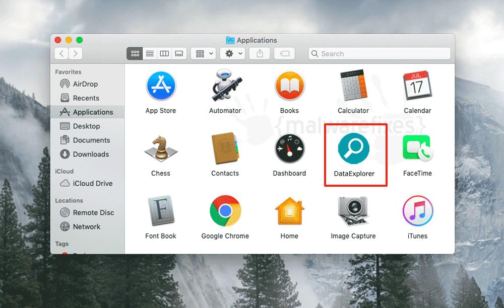 Screenshot of DataExplorer App