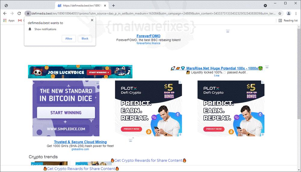 Screenshot of Defimedia.best website