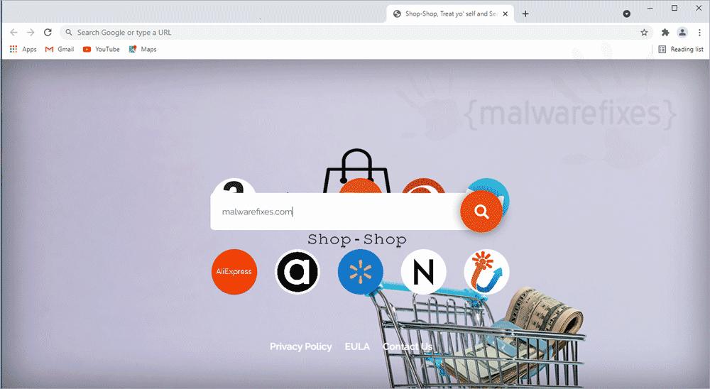 Screenshot of Shop-Shop Adware